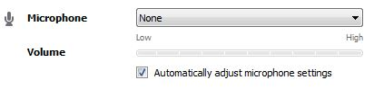 Skype Automatic Audio Settings