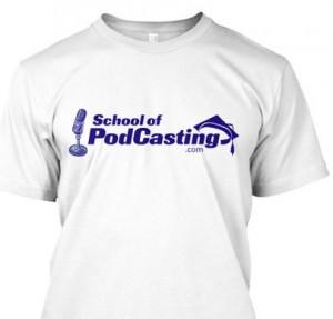 School of Podcasting T-Shirt
