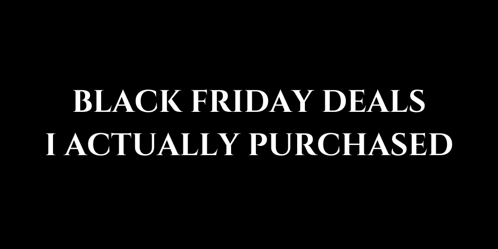 Black Friday Deals For Podcasters I Actually Purchased