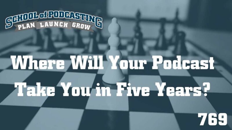 Where will your podcast take you in Five Years?